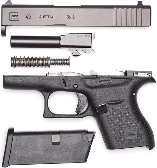 Неполная разборка Glock 43