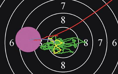 Оружие ушло из зоны прицеливания за 0,2 секунды перед выстрелом