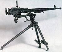 7,62-мм станковый пулемет Дегтярева ДС-39 образца 1939 года на полевом станке-треноге с двумя передними ногами