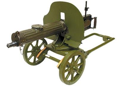 7,62-мм станковый пулемет «Максим» образца 1910 года на колесном станке системы Соколова