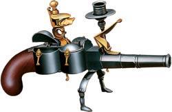 Дорожный пистолет-чернильница-подсвечник, подаренный в 1782 году тульскими мастерами Екатерине Великой