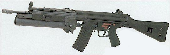 HK 33EA2 с установленным подствольным гранатометом