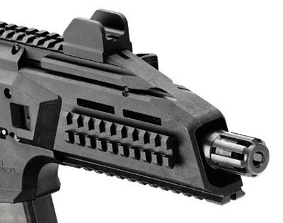 В случае необходимости пламягаситель может быть свинчен с дульной части ствола и заменен надульным устройством для бесшумной и беспламенной стрельбы