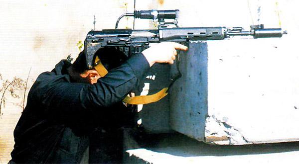 Стрельба из укрытия с помощью волоконно-оптического устройства Голодяева