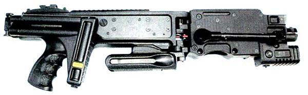 Установка Corner Shot. Вид справа со сложенным прикладом
