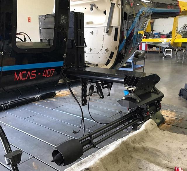 Небольшая масса пулемёта Dillon Aero 503D особенно важная при установке на лёгкие летательные аппараты