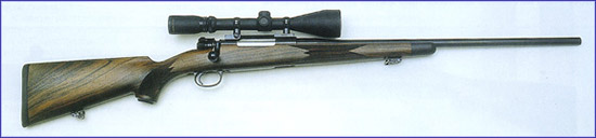 Идеальная ствольная коробка: Идеально подходит по своим габаритам под патрон .30-06 Springfield ствольная коробка с затвором Mauser 98. На фото классическая охотничья винтовка.