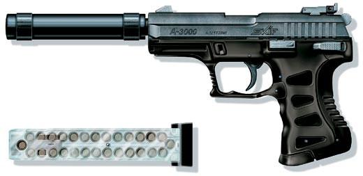 Газобаллонный многозарядный пистолет «Аникс» А-3000 LB «Скиф», Россия