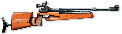 Компрессионная однозарядная винтовка МЦ372, Россия