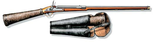 Пневматическая многозарядная винтовка Жирандони и сумка с запасными прикладами-камерами. Австрия, 1790 г.