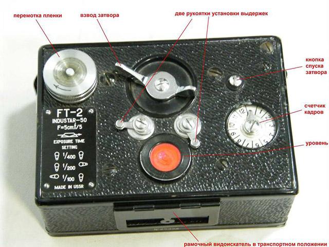 Советский панорамный фотоаппарат FT-2 (дальнейшее развитие ФТ-1, разработанного Ф. И. Токаревым)