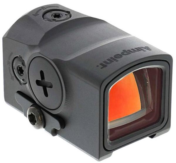 Aimpoint ACRO P-1 может быть закреплён и использован на автомат или винтовку в качестве дополнительного прицела