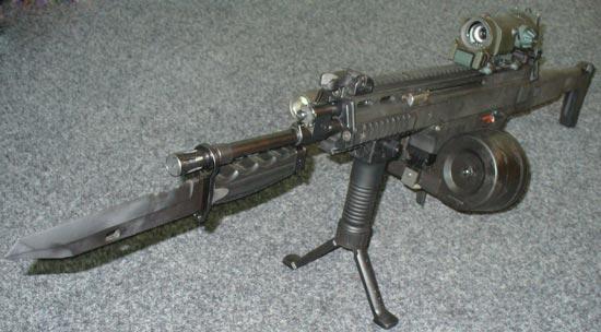 CZ 805 BREN A1 с установленным штык-ножом
