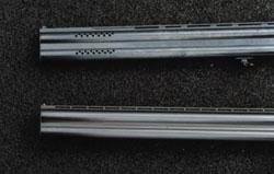 Стволы тестируемых ружей: сверху - ствол МР-233, снизу - ствол ТОЗ 120
