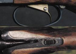 Предохранители тестируемых ружей: сверху - ствол МР-233, снизу - ствол ТОЗ 120
