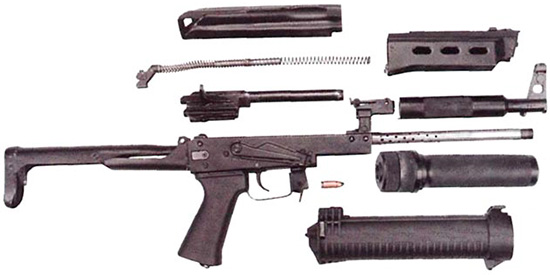 Неполная разборка пистолета-пулемета «Бизон-2-03»