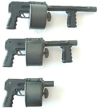 Striker со стволом длиной 12 и 9 дюймов и с демонтиованым стволом