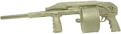 Streetsweeper американская копия ружья Striker имеет удлиненный ствол в соответствии законодательству США об оружии