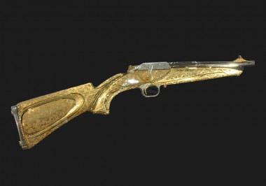 В уникальном карабине Blaser R93 золотом сверкает все, в том числе ложа, целик и мушка