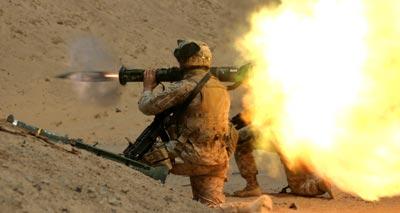 М136 при стрельбе