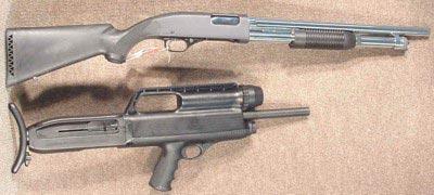 Ружье High Standard model 10A в сравнении с обычным ружьем «традиционной» компоновки