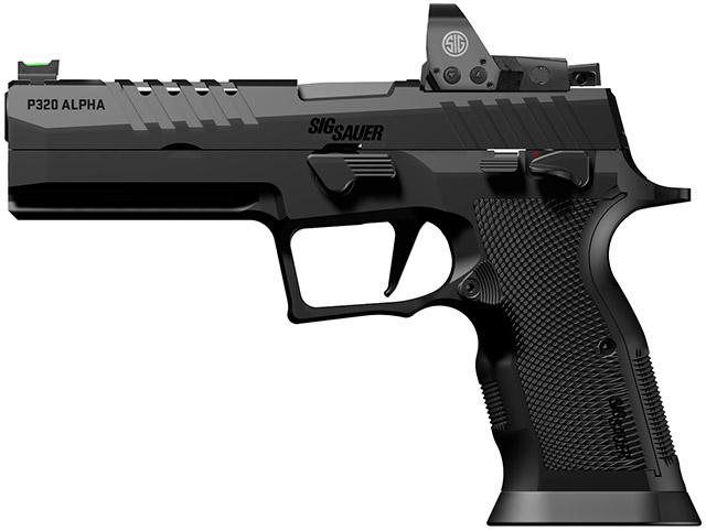 Сделано в Германии: новый SIG Sauer P320 X-Five Alpha калибра 9 мм Luger с установленным мини коллиматорным прицелом SIG Sauer Electro Optics
