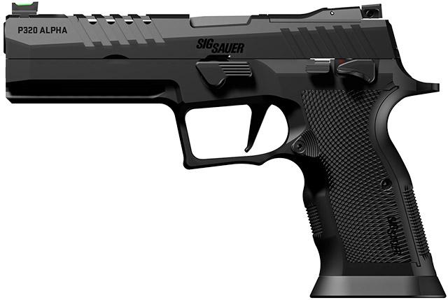 Пистолет SIG Sauer P320 X-Five Alpha с двумя стальными прицельными приспособлениями