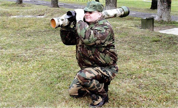 Демонстрация нового гранатомета РПГ-32 «Хашим»