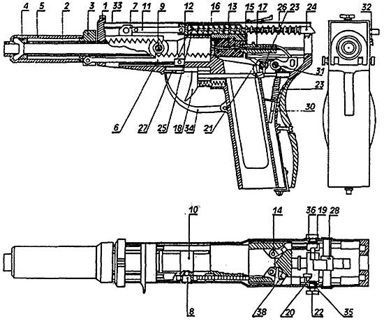 Рис. 4. Общее устройство частей и механизма изделия