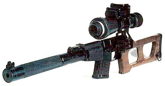 Бесшумная снайперская винтовка «Винторез» с ночным прицелом