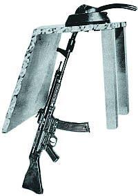 Автомат (штурмовая винтовка) МР.44 с искривленным стволом-насадкой Vorsatz Pz (танковый вариант) на 90 градусов