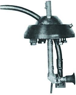 Второй вариант искривленного ствола-насадки Vorsatz Pz (танковый вариант), смонтированного в шаровой установке
