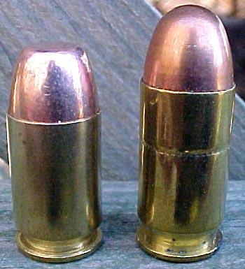 .45 G.A.P. (слева) и .45 ACP (справа)