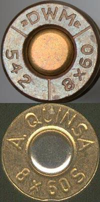 8x60 Mauser (сверху) 8x60 S Mauser (снизу)