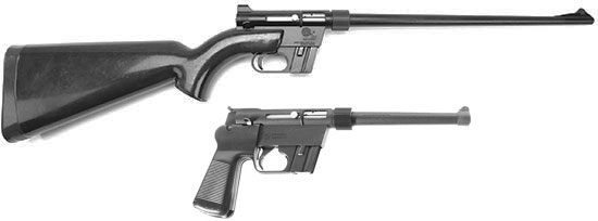 Винтовка AR-7 Explorer (сверху) и пистолет Explorer II (снизу)
