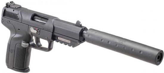 Five-seveN USG с установленным глушителем
