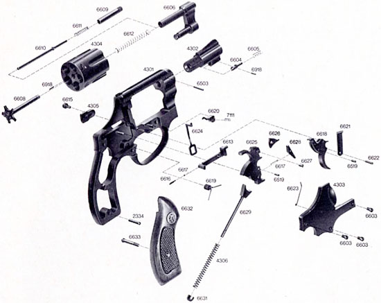 Взрыв-схема ERMA ER 438 и ER 440