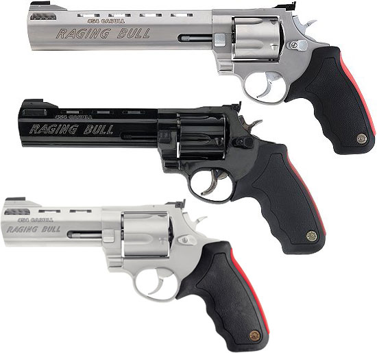Taurus M 454 Raging Bull Model 454 SS8 Model 454 B6 Model 454 SS5M (сверху вниз)
