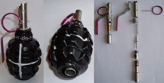 учебно-имитационная ручная граната УРГ с имитационным запалом