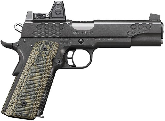 Пистолет Kimber KHX Custom (OI) в стандартной комплектации идёт с Trijicon RMR 06 Type 2
