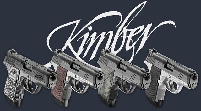 Пистолеты Kimber EVO Custom Shop (CS) из четырёх вариантов, различающихся внешним видом и опциями