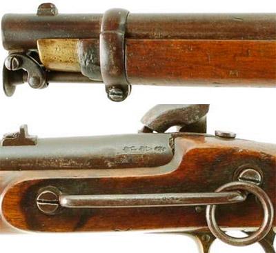 Вид на отдельные элементы Enfield Pattern 1856 Cavalry Carbine