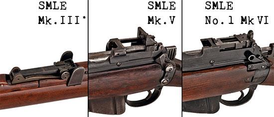 Прицелы моделей SMLE Mk III*, Mk V и No.1 Mk VI