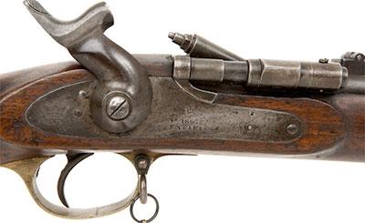 Вид на курок и затвор винтовки Snider-Enfield
