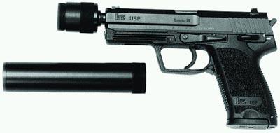9-мм пистолет USР.9 с глушителем Brugger & Thomet «Impuls II»