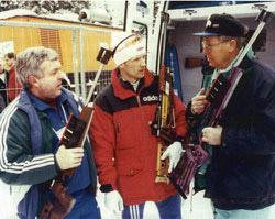 Дитер Аншутц, Владимир Драчев со своим тренером в Рупольдинге, 1996 год