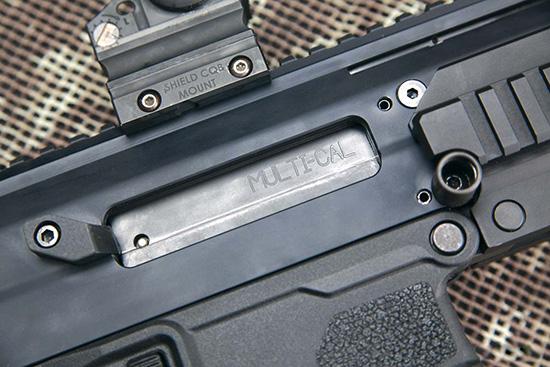 Надпись Multi-cal на затворной раме намекает, что винтовка способна работать также в калибрах 6,8 Remington SPC и 7,62х39, однако комплекты для перехода на них — пока лишь в перспективе