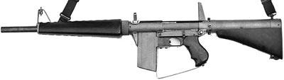 Atchisson assault shotgun (прототип 1972 года) с 5-зарядным коробчатым магазином