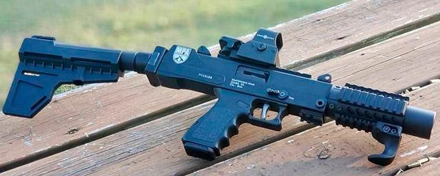 9-мм пистолет MPA35DMG со стабилизатором Shockwave Blade Pistol Stabilizer компании KAK Industry