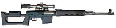Вариант охотничего карабина «Тигр-9» с прикладом и цевьем, выполненными из стеклонаполненного полиамида. На первый взгляд перед нами снайперская винтовка Драгунова, однако форма магазина и клеймение на ствольной коробке убеждают - это «Тигр-9»